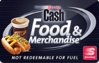 Speedway food and merchandise only